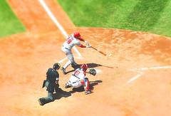 Red-Sox_fake-tilt-shift-005 (alohadave) Tags: manipulated ball fuji baseball helmet bat redsox fake shift finepix pitch fujifilm catcher tilt f5 beantown batter 36mm s3100 iso64 0003sec 0ev juuuuustmissed