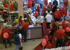 Nebraska Bookstore on Game Day