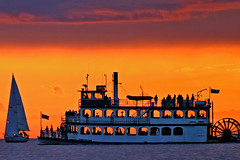 AFS sternwheeler silhouette (♫ marc_l'esperance) Tags: ocean pink blue sunset summer sky people orange water colors silhouette vancouver clouds sailboat canon eos interestingness bravo glow colours bc horizon © 7 august 2006 10d wheeler englishbay stern sternwheeler allrightsreserved cml gvrd 3wayicon abigfave harbourcruises exploreaugust1406 deliciouscolours monipick superaplus aplusphoto canonef100300mmf56