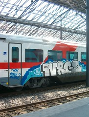 HPIM13726. Graffiti on IC-train, Helsinki (viima) Tags: streetart train finland graffiti helsinki hp 2006 vr intercity juna traingraffiti katutaide graffitiblogi stopthryille finstreetart junagraffiti