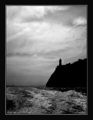 The getaway (alonsodr) Tags: sea bw lighthouse water backlight contraluz faro mar topf50 agua nikon wave 100v10f bn alonso bizkaia vizcaya ola lekeitio pasvasco euskai alonsodr 123bw abigfave