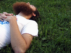 laying down (massdistraction) Tags: summer minnesota random relaxing strangers minneapolis beards redbeard facialhair twincities relaxed chillaxin layingdown lyingdown greengrass loringpark boyswithbeards beardedstranger