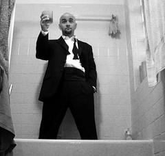 here's to you. (calvo) Tags: self dc bathtub tux alldressedup 60q damnhell