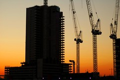 dfive060831 (mugley) Tags: sunset construction melbourne cranes docklands victoriaharbour dock5