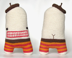 (sandra juto) Tags: pink orange brown white alpaca eyes crochet buttcrack softie softies beret asscrack bumcrack