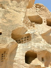 Dovecotes, Uchisar Castle - by dachalan