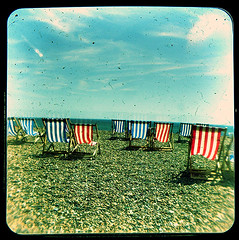 Sea of Chairs - TTV (rokou) Tags: beach square brighton kodak duaflex viewfinder top50 ttv throughtheviewfinder rokou top501 top502 top503 top504 top505 top506 top507 top508