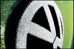 bug on ice (macwagen) Tags: 2003 volkswagen logo frost beetle archives sonycybershot