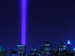 Five Years (Linus Gelber) Tags: nyc newyork topv111 skyline night lights topv555 topv333 memorial nightscape worldtradecenter 911 twintowers topv777 september11 redhook towersoflight tributeinlight september11th columbiaheights 911memorial columbiastreet utatafeature