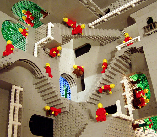 Escher's Relativity in Lego by Andrew Lipson / idigit_teddy