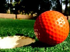 A strong gust of wind (sgs_1019) Tags: summer orange green sarah ball golf 2006 puttputt golfing greens dimples putting turf putt hold