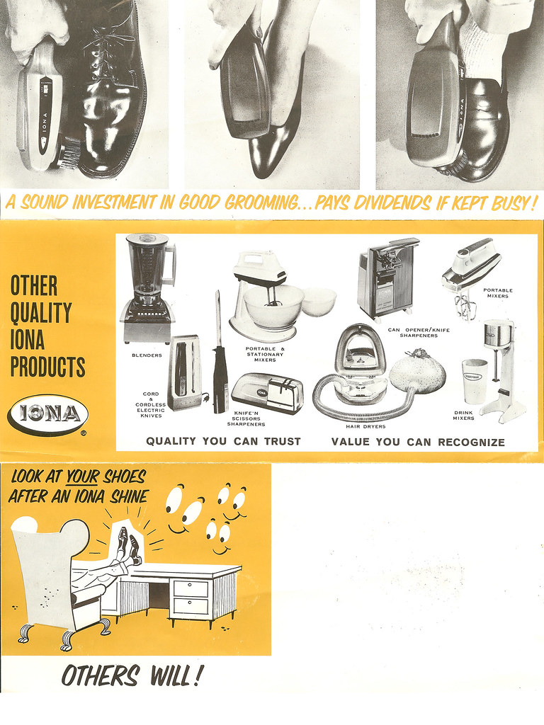 Iona shoe polisher brochure