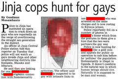 Cops hunt for gays