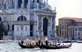 Gondolas - Venezia, Italia (1992, taken by My Wife)