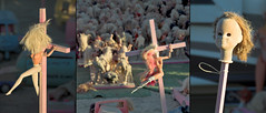 Death to Barbie!! (alterednate) Tags: death doll awesome d70s barbie burningman blackrockcity crucifix twisted barbiedeathcamp nailed burningman2006 nikkor1820mmvr