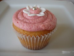 Strawberry Jam Cupcake with Special Strawberry Buttercream (cupcaketastic) Tags: cooking baking australia melbourne victoria goods badge baked badged cupcaketastic