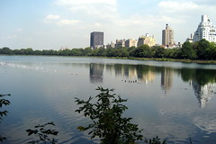 NYC - Central Park: Jacqueline Kennedy Onassis Reservoir (wallyg) Tags: park nyc newyorkcity ny newyork reflection birds skyline nhl centralpark manhattan landmark reservoir ues gothamist uppereastside nationalhistoriclandmark nationalregisterofhistoricplaces usnationalhistoriclandmark jacquelinekennedyonassisreservoir nrhp rhododendronmile usnationalregisterofhistoricplaces newyorkcitylandmarkspreservationcommission nyclpc sceniclandmark