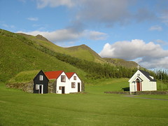 Skogar Iceland (jordicerda52) Tags: houses green church landscape iceland skogar