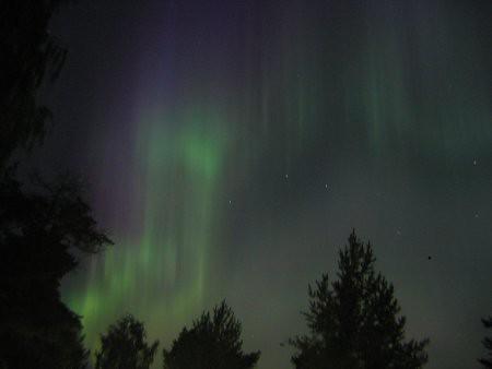 Aurora Boreal en Joensuu, Finlandia.