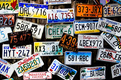 License plate (PW74) Tags: 2005 usa bar harbor unitedstates plate license pw pw74