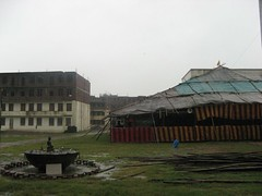Nyingma monastery in the rain