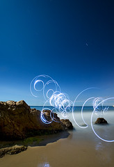 Spin (Toby Keller / Burnblue) Tags: california longexposure light toby beach night landscape keller d70 circles headlamp otherside hendrys tobykeller 1118mm burnblue