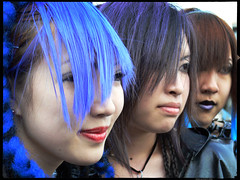 Colorful-Smiles-of-Harajuku (Danz in Tokyo) Tags: leica girls people color smile japan japanese tokyo interestingness asia faces cosplay smiles dressedup harajuku  nippon  fz30 nozoom topv11 danz topv22