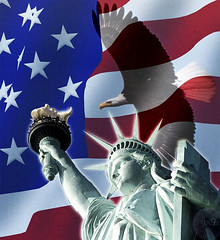 Symbols (Gravityx9) Tags: vacation usa holiday animal statue photoshop liberty eagle flag 4th july chop independence ff rwb breathtaking specialeffects oldglory americaamerica 070406 amazingcapture psfo anawesomeshot news21 allkindsofbeauty sensationalcreations