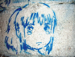 Chihiro (Smeerch) Tags: blue italy streetart stencils rome roma muro art wall graffiti stencil paint italia arte blu cartoon can spray bleu spiritedaway characters walls cans graffito lex cartoons robinson flo chihiro charachter spraycan lazio toons paints vernice vernici muri robinsons pollyanna lattina cartone cartoni bombolette bomboletta protagonista protagonisti artedistrada viapo elviajedechihiro lapiccolarobinsons levoyagedechihiro lacittincantata