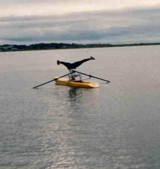 headstand at Esquimalt Lagoon (Stop carbon pollution) Tags: victoria rowing headstand royalroads  esquimaltlaggon