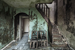 A tad moist (Kriegaffe 9) Tags: stairs mould decay chairs