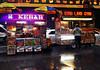 Kebab & Gyro (Robert S. Photography) Tags: rainyday street carts food hotdog vendors rain wet signs sabrett gyro kebob man nyc manhattan nikon coolpix l340 iso200 november 2016