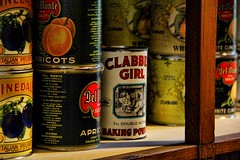 Clabber Girl (David K. Edwards) Tags: food canned tins cannedgood dark noisy