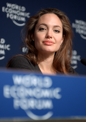 Angelina Jolie - World Economic Forum Annual Meeting Davos 2005