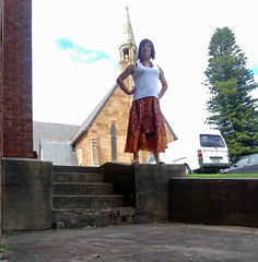 Wonder Woman (justplainrachel) Tags: justplainrachel rachel cd tv crossdresser transvestite trans top skirt hippy boho silk outdoors selfie selfportrait