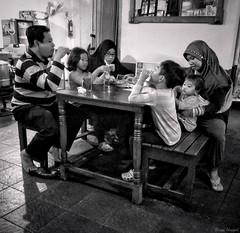 Family Dinner (rizqyunggul) Tags: amateur jakarta indonesia indoor family dinner candid urban people blackwhite streetphotography