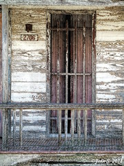 ... (Jean S..) Tags: window old ancient peeled balcony wood house abandoned