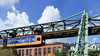Wuppertal suspension railway (frankdorgathen) Tags: alpha6000 perspektive perspective wideangle weitwinkel sony1018mm landschaft landscape cloud sky traffic transportation tram railway cable suspension schwebebahn bergischesland wuppertal