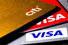 Pay With Plastic (Ian Charleton) Tags: macromondays plastic credit debit finance creditcard visa citi mastercard debt shopping macro closeup goldcard