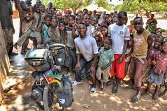 Village crowds in northern Mozambique.
