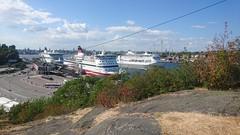 View from Fåfängan (skumroffe) Tags: fåfängan view utsikt södermalm söder masthamnen vikingline gabriella birka birkastockholm birkacruises stockholm sweden