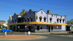 Namoi Hotel ~ NARRABRI (Jungle Jack Movements (ferroequinologist)) Tags: namoi phoenix hotel lloyd maitland street narrabri cotton nsw new south wales alcohol ale alehouse amber bar barman bartender beer brew brewery drink draught lager saloon tavern inn public publican local drinkers stout lounge watering hole pub tab house australia order cold customer thirsty cheers keg serve liquor whiskey scotch bourbon rum spirits light heavy pint schooner middy 7 pot shout mates meals victoria bitter carlton xxxx emu story history rail honky tonk