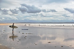 Waiting for the Wave, Saunton Sands (James Mans) Tags: nikon d5500 saunton sands devon uk england waves beach sky sand sigma1750 175028 1750mm sea ocean water bay seaside landscape people clouds surf surfboard