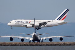Airbus A380 at San Francisco (photo101) Tags: airbus a380 airfrance lufthansa afr84
