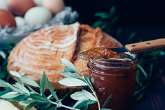 Bread and Jam (Tim Harwick) Tags: bread breakfast jam morning morningbreakfast rosemary table goodmorning early home food foodie dark darkfoodphotography darkfood shadow light naturallight availablelight sierramadre canon30d canon canondslr fresh egg nopeople homedecor loveourhome