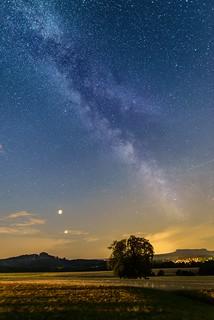 Lunar eclipse meets the Milky Way