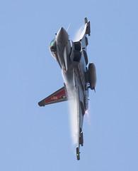 Typhoon FGR.4 ZK318 (Peter Starling) Tags: 2018 peterstarling riat royalinternationalairtattoo raf100 totterdown sticker airshow display aircraft fairford eurofighter 29 squadron triplex head burner reheat vapor vapour