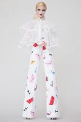 2018/summer (NOVA FU) Tags: fashion royalty fr2 agnes fr barbie nova doll logo white lace