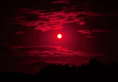 Blood moon. (carolinejohnston2) Tags: moon night red fullmoon nightsky clouds fermanagh ireland