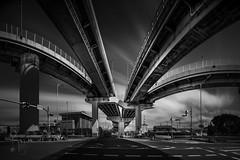 Shadow of the Kraken -Calculated Chaos 7- (YOSHIHIKO WADA) Tags: blackandwhite longexposure junction japan osaka yoshihikowada formatthitech cityscape architecture traffic